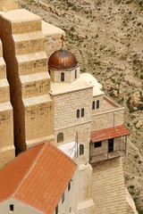 Mar Saba convent view from above.