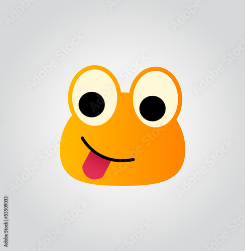 sticking tongue out - cute emoticon