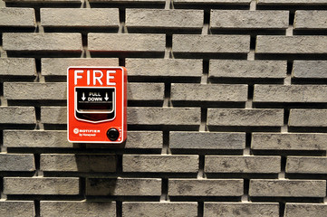 alarm fire on wall