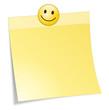 Zettel gelb Smiley