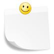 Zettel weiß Smiley