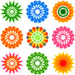 set of colorful ornamental design elements, icons