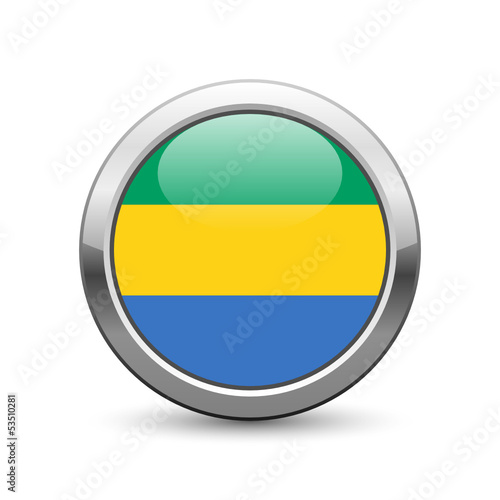 Gabonese flag icon web button