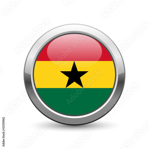 Ghanaian flag icon web button