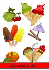 Eis , Eiscreme, Früchte Icon