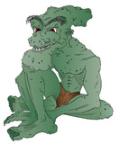 Vector illustration of a goblin