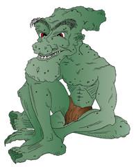 Vector illustration of a goblin