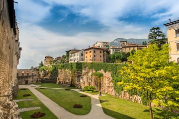 Inner Garden of Buonconsiglio Castle in Trento