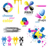 Fototapety CMYK design elements