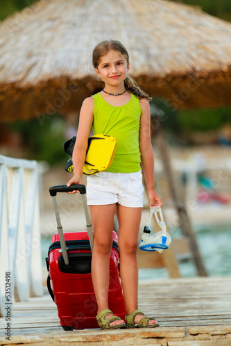 Travel, summer holidays - direction summer resort