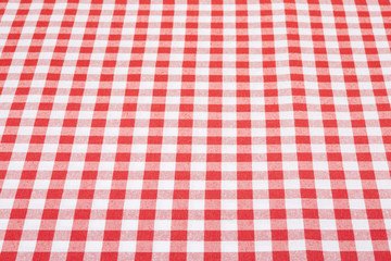 Red and white tablecloth perspective texture background