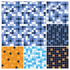 Set of Abstract Mosaic Vector Backgrounds