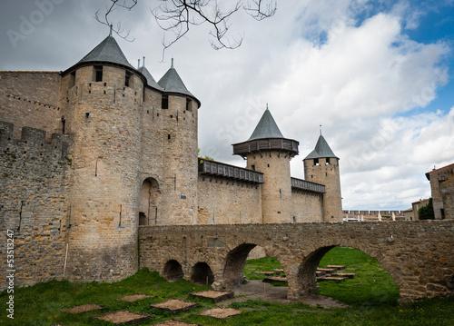Fototapeten,aude,carcassonne,frankreich,uralt