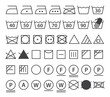 Set of washing symbols (Laundry icons) - 53513681