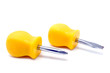 Two yellow short screwdrivers