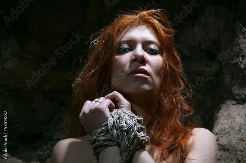 redheaded nude woman bondage