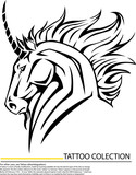 Beautiful Unicorn Horse.Vector illustration