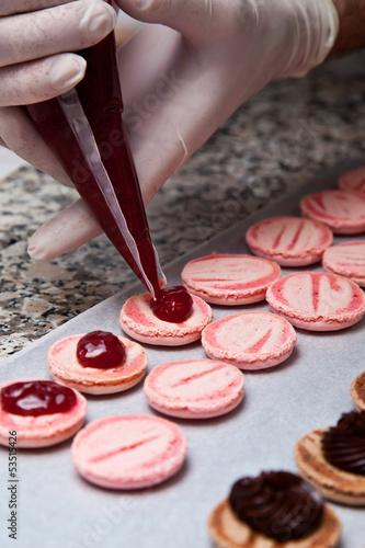 Papiers peints Macarons Préparation de macarons #6