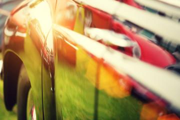 classic car reflections