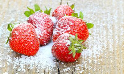 Erdbeeren mit Stevia gezuckert