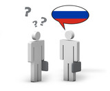 Business Russian Language Concept