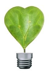 Heart leaves lamp