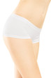 Attractive female in white cotton panties