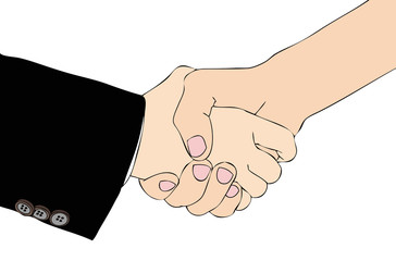 A handshake for a good agreement