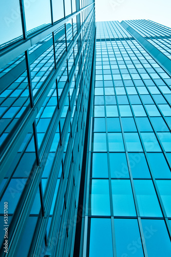 office buildings.  modern  glass wall of skyscraper
