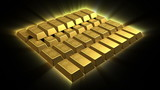Shiny Growing Gold Bricks Pyramid