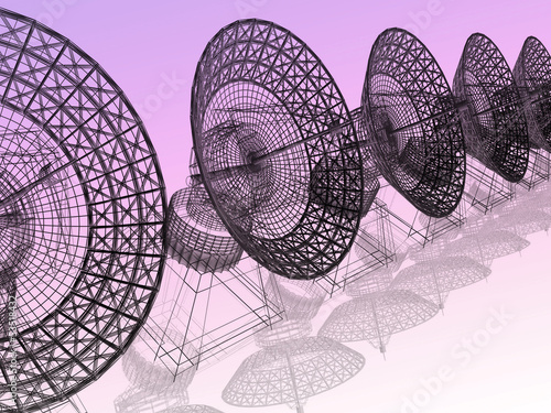satellite dish. 3d render on white background