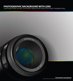 Abstract photographic background with lens