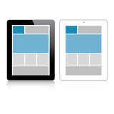Highly detailed responsive grid tablet vector
