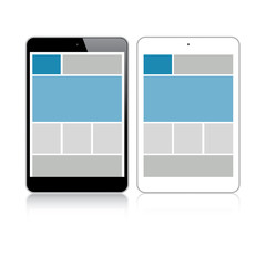 Highly detailed responsive grid small tablet vector