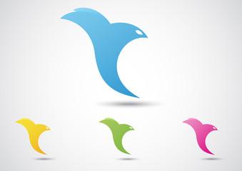 Bird Abstract Icon. Business concept