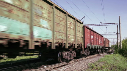 Freight train time lapse