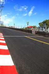 Monaco, Monte Carlo. Race asphalt, Grand Prix circuit