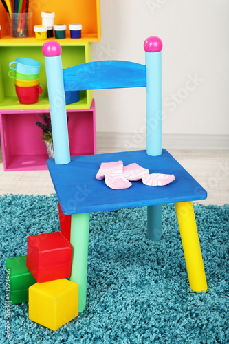 Small and colorful chair for little kids