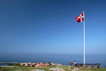 Aussichtspunkt oberhalb von Gudhjem in Bornholm