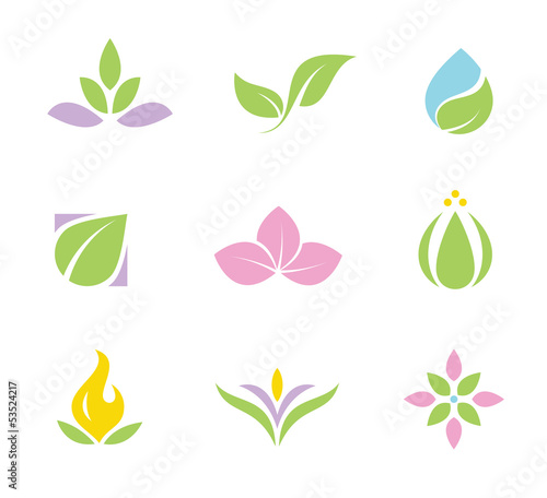 Spa set of logos and icons part I
