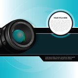 Vector photographic background with lens
