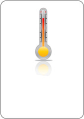 thermometer icon on white background
