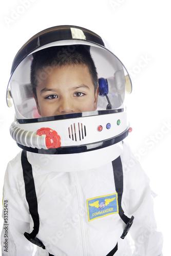 Leinwanddruck Bild Astronaut Commander Closeup