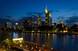 city evening in Frankfurt Germany