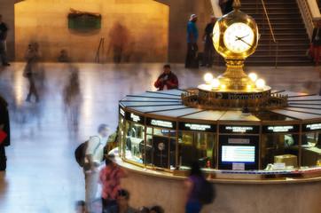 NEW YORK CITY - JUN 10: Grand Central main Concourse Clock on Ju