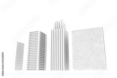 3Dのビル群
