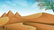 A landscape at the desert