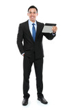 Business man holding a tablet PC