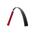 Whip with dark red handle