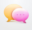 Speech bubble web icons